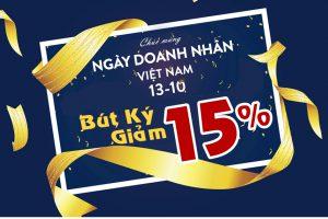 Mừng Ngày Doanh Nhân Việt Nam Khuyến Mại 15% Bút Picasso