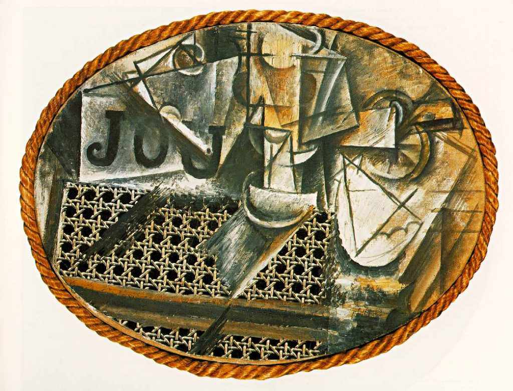 Picasso, Still Life with Chair Caning, 1912