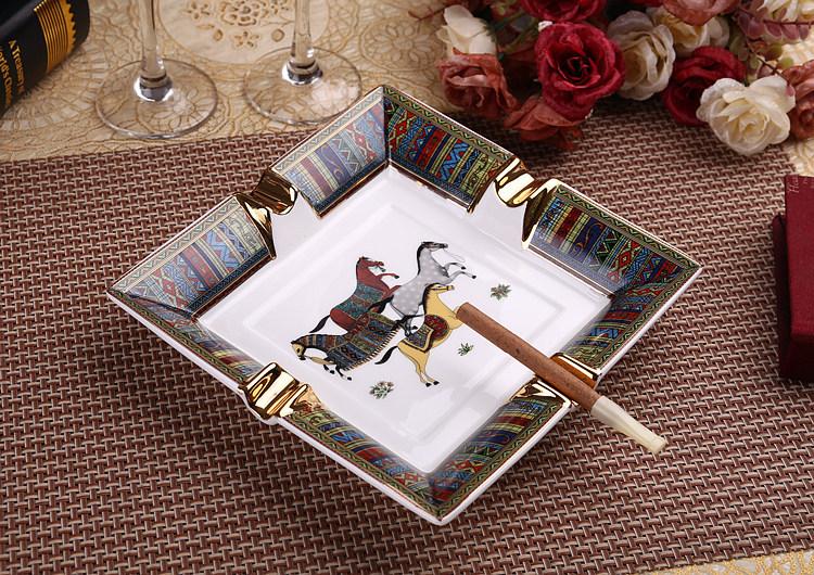 Gạt tàn xì gà gốm sứ cao cấp phong cách Châu Âu