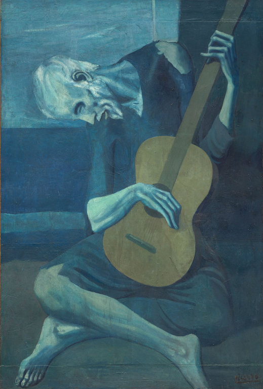 Pablo Picasso, The Old Guitarist, 1903, Art Institute of Chicago